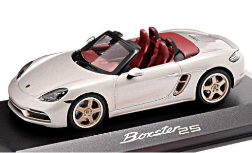 Porsche Boxster 1/43 I Minichamps 718 25 (982) metallise grise 2021 25 années miniature