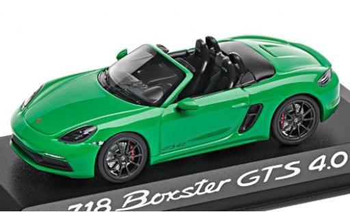 Porsche Boxster 1/43 I Minichamps 718 GTS 4.0 (982) verte 2020 miniature