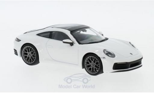 Porsche 992 1/43 Minichamps 911  Carrera 4 white 2019 diecast model cars