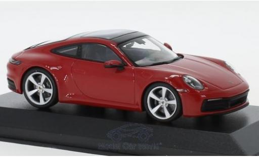 Porsche 911 1/43 I Minichamps (992) Carrera S rouge 2019 miniature