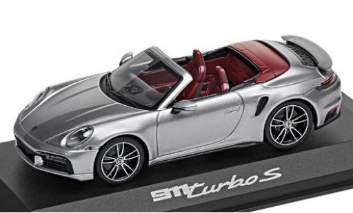 Porsche 992 Turbo s 1/43 I Minichamps 911  Turbo S Cabriolet grise 2020 miniature