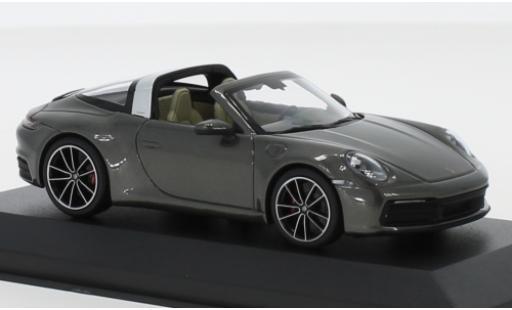 Porsche 992 Targa 1/43 I Minichamps 911 4S  metallise grise miniature