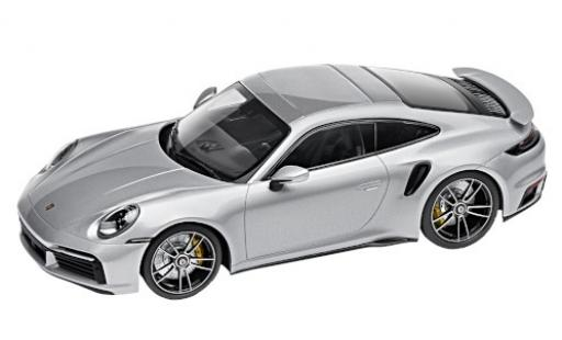 Porsche 992 Turbo s 1/18 I Minichamps 911 Turbo S  grise 2020 miniature