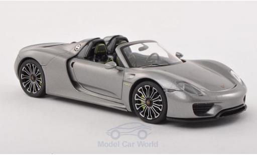 Porsche 918 2013 1/43 Minichamps Spyder metallic-grise 2013 IAA Frankfurt miniature