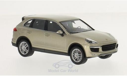 Porsche Cayenne Turbo 1/43 Minichamps metallise beige 2014 miniature