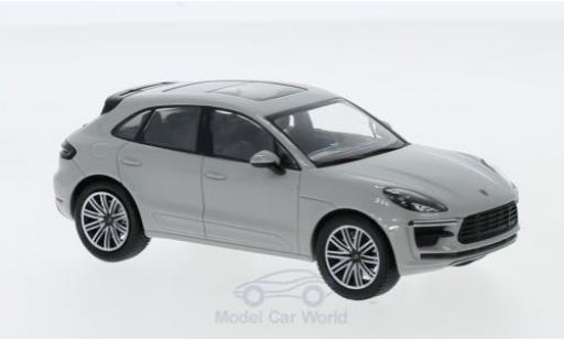 Porsche Macan Turbo 1/43 Minichamps grey 2019 diecast model cars