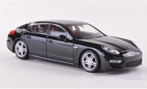 Porsche Panamera Turbo 1/43 I Minichamps (970) metallise black 2013 Facelift diecast model cars