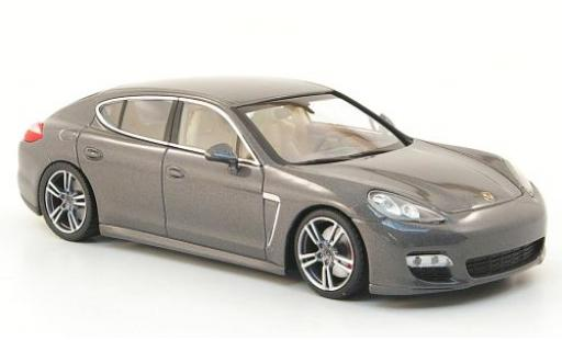 Porsche Panamera Turbo S 1/43 I Minichamps metallise grey 2010 diecast model cars