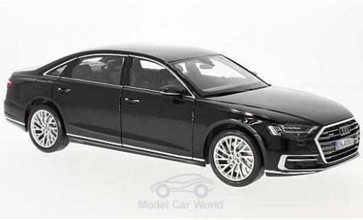 Audi A8 1/18 Norev L metallise noire 2017 miniature
