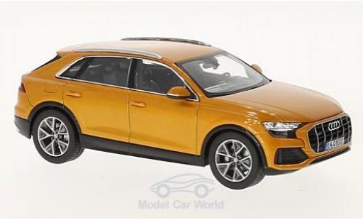 Audi Q8 1/43 Norev metallise orange 2018 miniature
