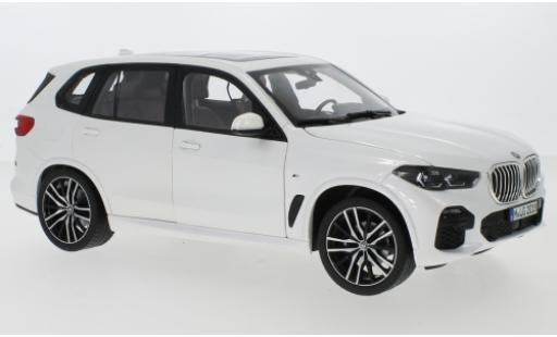 Bmw X5 1/18 Norev (G05) metallise white 2018 diecast model cars