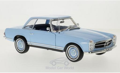 Mercedes 230 1/18 Norev SL (W113) HardTop blue 1963 diecast model cars