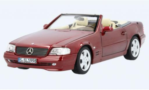 Mercedes 500 1/18 I Norev SL (R129) metallise red 1998 diecast model cars