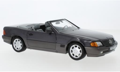 Mercedes 500 1/18 I Norev SL (R129) metallise lila 1988 avec Softtop et Hardtop miniature