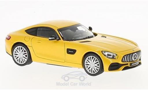 Mercedes AMG GT 1/43 Norev Coupe metallise yellow diecast model cars
