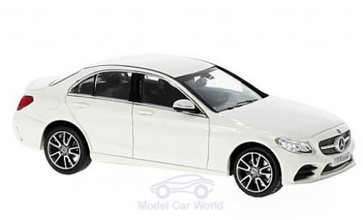 Mercedes Classe C 1/43 Norev Mopf (W205) metallise blanche miniature
