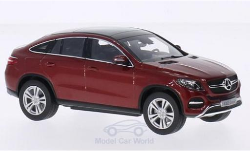Mercedes Classe GLE 1/43 Norev GLE Coupe (C292) metallise red diecast model cars