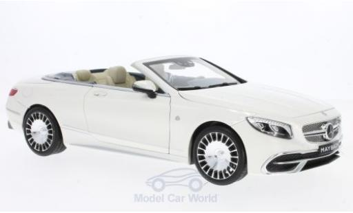 Mercedes Classe S 1/18 Norev -Maybach S650 Cabriolet blanche miniature