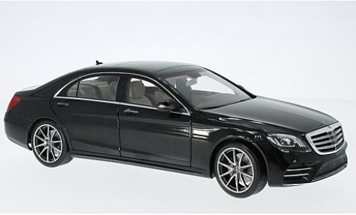 Mercedes Classe S 1/18 I Norev V222 Mopf black 2017 diecast model cars