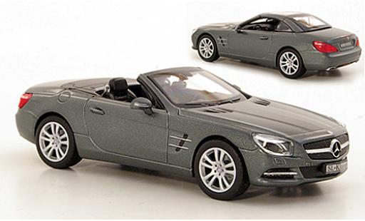 Mercedes Classe SL 1/43 I Norev (R231) metallise grise 2012 toit � aufsetzen couché avec miniature