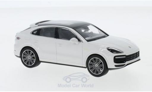Porsche Cayenne Turbo S 1/43 Norev e-hybrid Coupe white 2019 diecast model cars