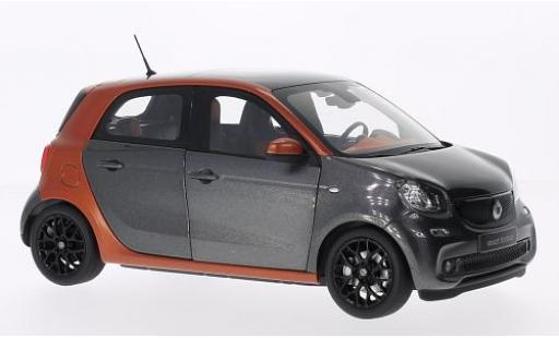 Smart ForFour 1/18 I Norev Forfour metallise orange/metallise grise 2014 miniature