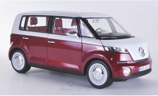 Volkswagen Bulli 1/18 Norev Concept metallise rouge/blanche 2011 Autosalon Genf miniature