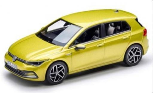 Volkswagen Golf 1/43 Norev VIII metallise yellow 2020 diecast model cars