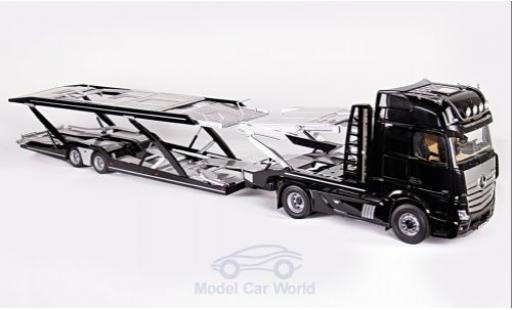 Mercedes Actros 1/18 NZG GigaSpace 4x2 noire/grise mit Autotransportauflieger miniature