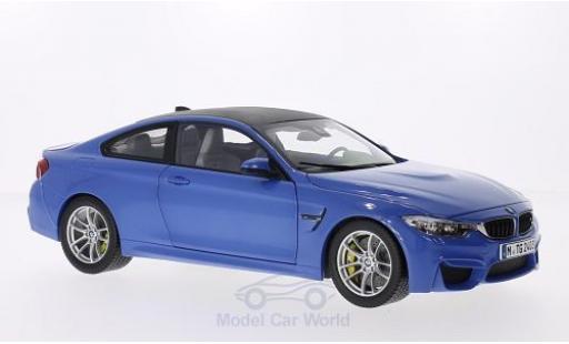 Bmw M4 1/18 Paragon Coupe metallise blue/carbon 2014 diecast model cars