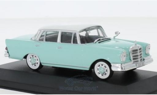 Mercedes 220 1/43 I PCT SE (W111) turquoise/blanche 1959 miniature