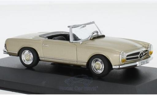 Mercedes 230 1/43 Pct SL (W113) metallise beige 1963 diecast model cars