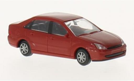 Ford Focus 1/87 I Rietze Stufenheck rouge sans Vitrine miniature