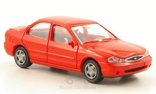 Ford Mondeo 1/87 Rietze MKII Stufenheck rouge 1996 ohne Vitrine miniature