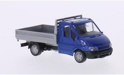 Ford Transit 1/87 I Rietze Pritsche bleue/grise 2001 sans Vitrine miniature