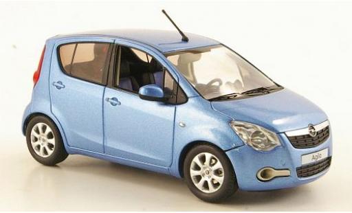 Opel Agila 1/43 Schuco B met.-blue metallise blue 2008 sans Vitrine diecast model cars