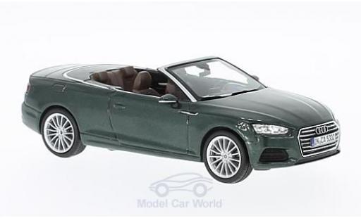 Audi A5 1/43 I Spark Cabriolet metallic green 2016 diecast