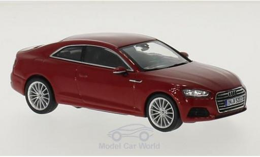Audi A5 1/43 Spark Coupe red 2016 diecast model cars