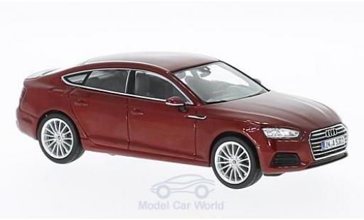 Audi A5 1/43 Spark Sportback metallise red 2016 diecast model cars