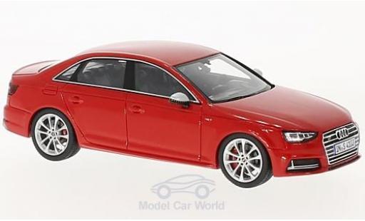 Audi S4 1/43 Spark red 2016 diecast model cars