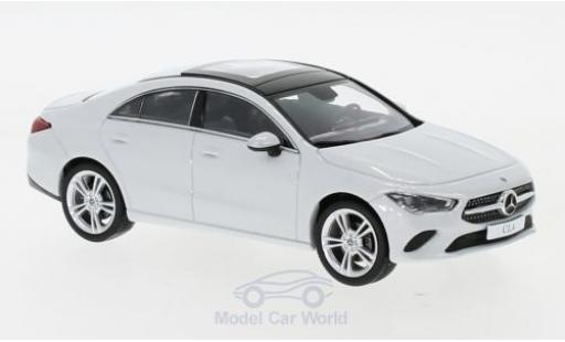 Mercedes CLA 1/43 Spark Coupe (C118) metallise white diecast model cars