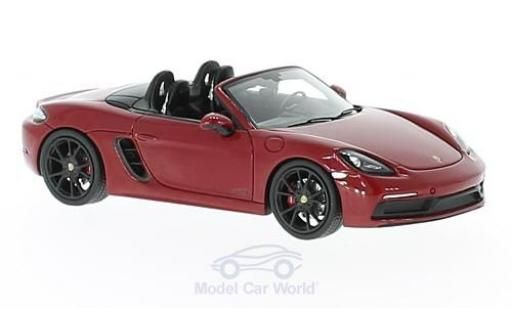 Porsche Boxster 1/43 Spark 718 GTS red diecast model cars