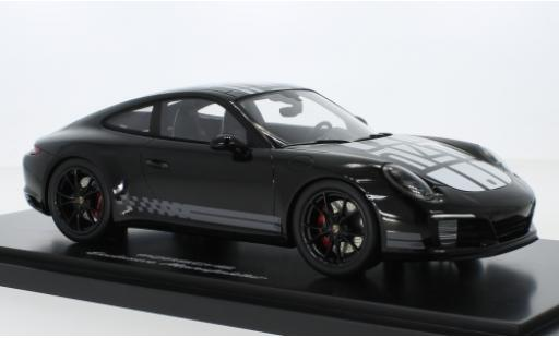 Porsche 991 S 1/18 I Spark 911  Carrera Endurance Racing Edition black/Dekor Intelligent Performance 2016 avec Vitrine diecast model cars