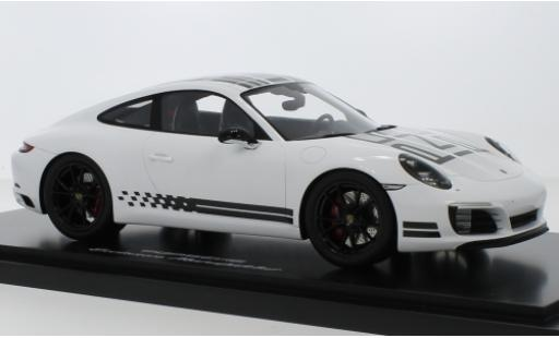 Porsche 991 S 1/18 I Spark 911  Carrera Endurance Racing Edition blanche/Dekor Intelligent Performance 2016 avec Vitrine miniature