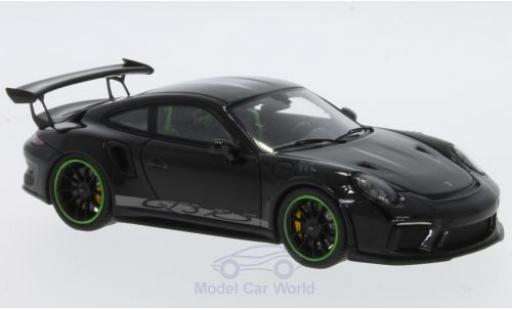 Porsche 991 GT3 RS 1/43 Spark 911  black diecast model cars