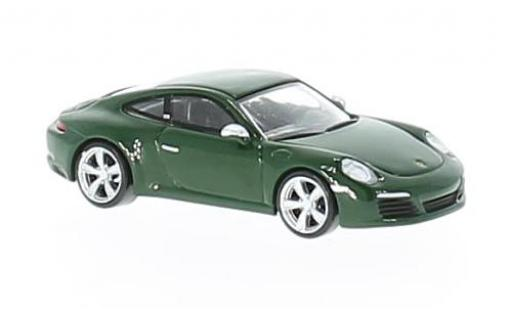 Porsche 991 S 1/87 I Spark 911 ( II) Carrera green 2017 Nr.1000000 diecast model cars