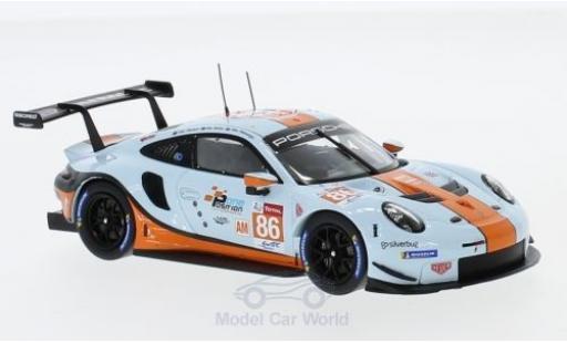 Porsche 991 SC 1/43 Spark (991 II) R No.86 Gulf Racing Gulf WEC 2018 M.Wainwright/B.Barker/A.Davison miniature