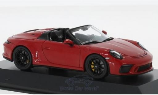 Porsche 992 Speedster 1/43 Spark 911 (991 II) rouge 2019 miniature