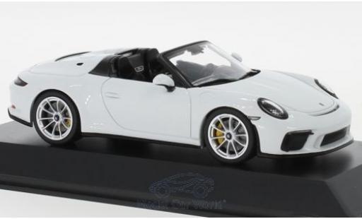 Porsche 992 Speedster 1/43 Spark 911 (991 II) blanche 2019 miniature