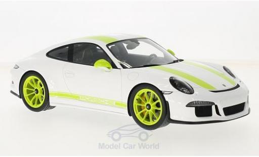 Porsche 991 R 1/18 Spark 911  blanche/verte 2017 miniature